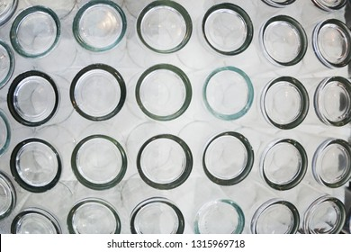 Glass cup texture pettern background