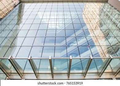 Glass Curtain Wall In The Business Center
