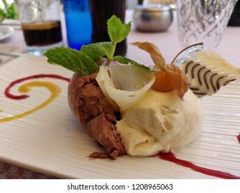 Glass dessert homemade