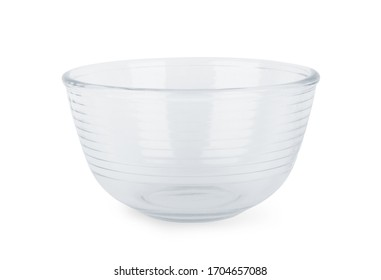 Glass dish on a white background, isolated