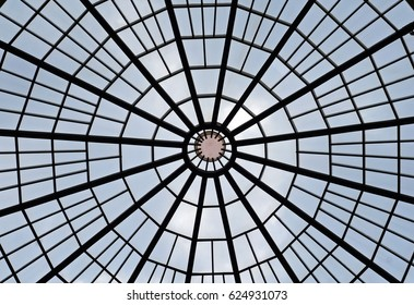 Glass dome structure, bottom view