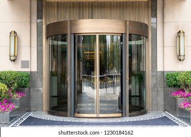 Glass doors for modern architecture