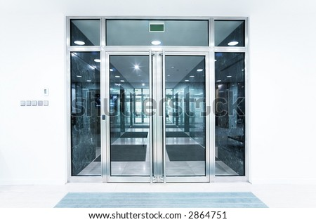 Glass Doors In An Office