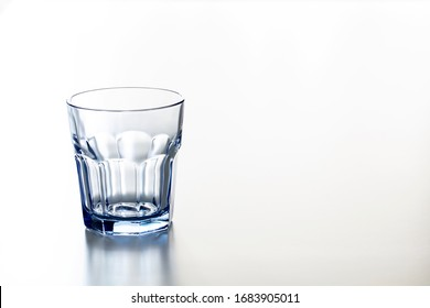 A Glass of Drinking Water Isolated on White Background