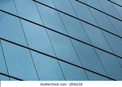glass facade of commercial building