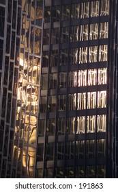 Glass facade of a sky scraper,  Toronto,  Ontario,  Canada