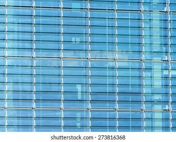 glass facade of a skyscraper