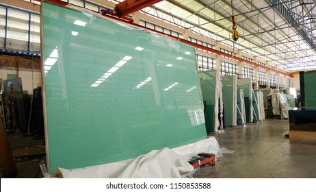 Glass in glass factory
