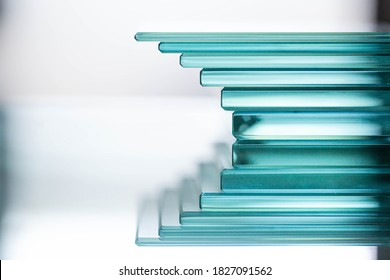 Glass Factory produces a variety of transparent glass thicknesses. - Shutterstock ID 1827091562