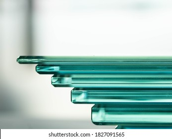 Glass Factory produces a variety of transparent glass thicknesses. - Shutterstock ID 1827091565