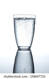 glass filled with sparkling water