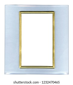 Glass frame isolated on white background