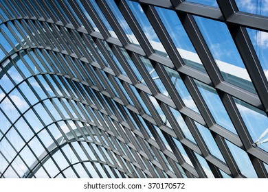 Glass and framing design pattern of modern architecture