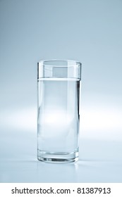Glass of fresh healthy water