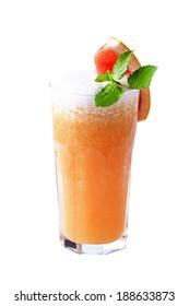 Glass of fresh squeezed orange juice