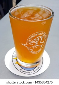 glass full of beer at The Dodging Duck, June 13th 2019, Boerne Texas