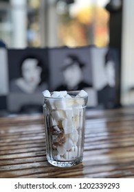 glass full of sugar cubes- unhealthy diet concept