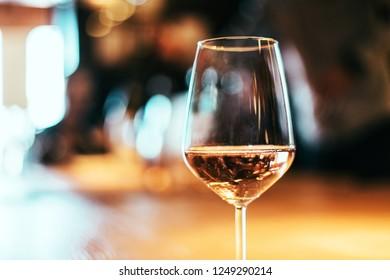 glass goblet of Italian rose / rosè wine from Valpolicella - Bardolino claretto /chiaretto