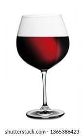 Glass of good red wine