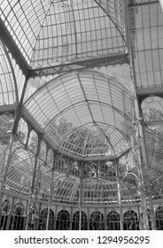 glass greenhouse of the park