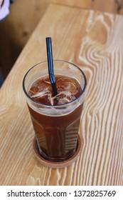 A glass of ice americano