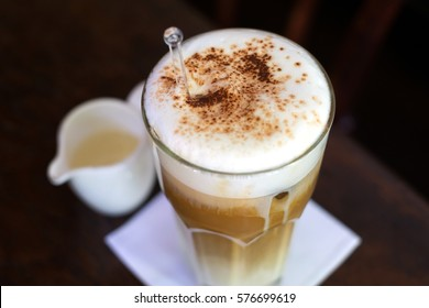 A glass of Ice Cappuccino