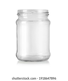 Glass jar isolated on white with clipping path