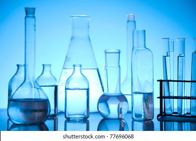 Glass in laboratory