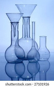 Glass laboratory equipment for science research