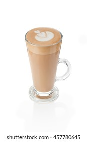 glass latte. drink latte on a white background