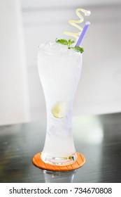 a glass of lemon juice
