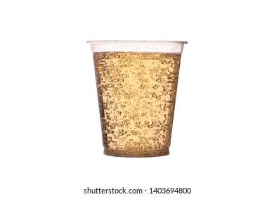 Glass of lemonade on the white background