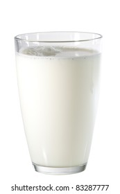 Glass of milk (with clipping path)