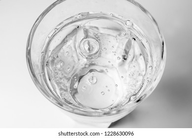 Glass of mineral water, isolated on white background
