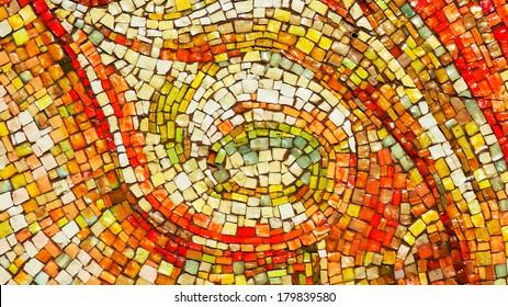 glass mosaic wall