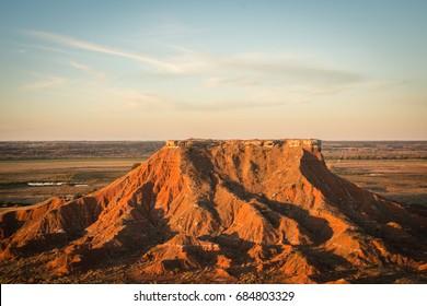 Glass Mountain west of Enid, Oklahoma.