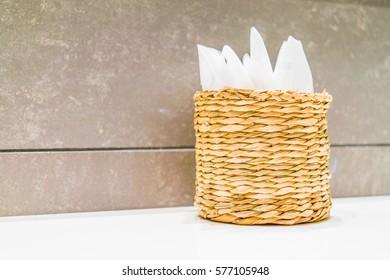 Glass with napkins