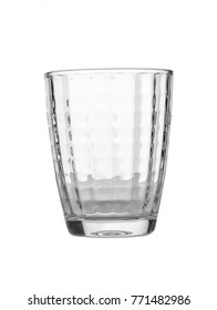 Glass on a white background