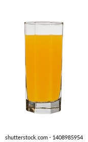 glass with orange juice isolated on a white background