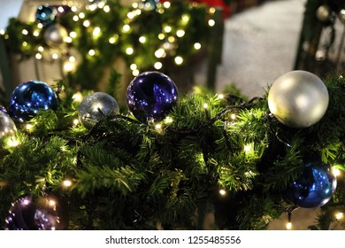 glass ornaments at Christmas
