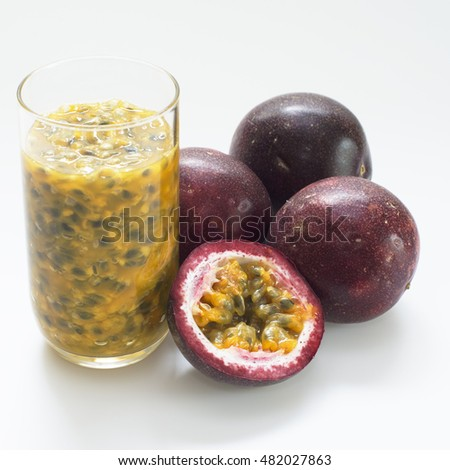 Pictures Of Passion Fruit Juice