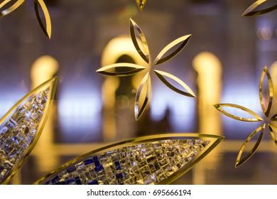 Glass Patterns at Night, A photo Taken at Grand Mosque, Abudhabi