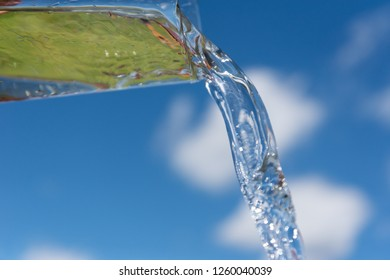 Glass and pouring water.