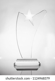 glass prize on the white background