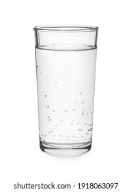 Glass of pure water isolated on white
