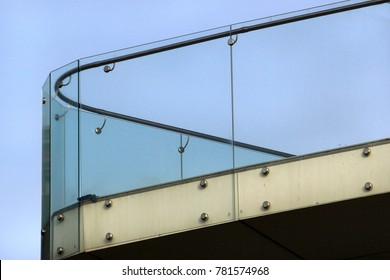 Glass railings on a balcony