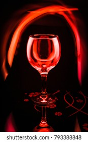 A glass in red