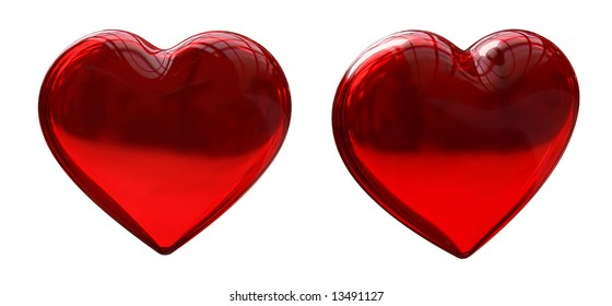 Glass Red Heart