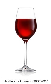 Glass of the red wine isolated on white background