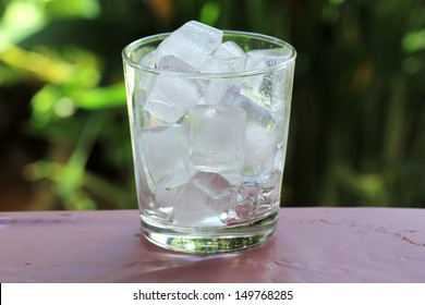 A glass of refreshing ice cube